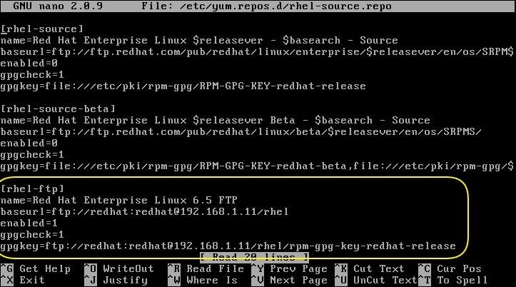 adding rhel ftp to /etc/yum.repos.d/rhel-source.repo