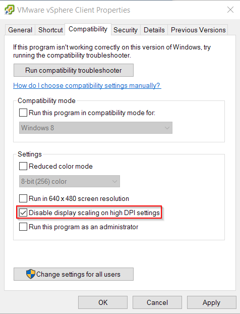 vSphere-on-Windows-10-properties